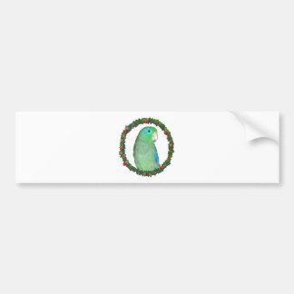 Parrotlet Christmas wreath Bumper Sticker