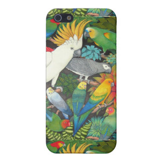 Parrots and Bromeliads iPhone Case iPhone 5 Cover