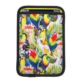 Parrots And Palm Leaves iPad Mini Sleeves