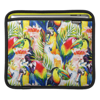 Parrots And Palm Leaves iPad Sleeves
