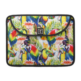 Parrots And Palm Leaves Sleeves For MacBooks