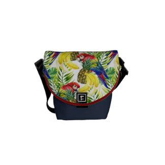 Parrots And Tropical Fruit Commuter Bag