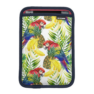 Parrots And Tropical Fruit iPad Mini Sleeves