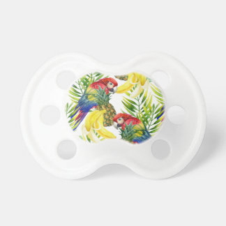 Parrots And Tropical Fruit Pacifiers