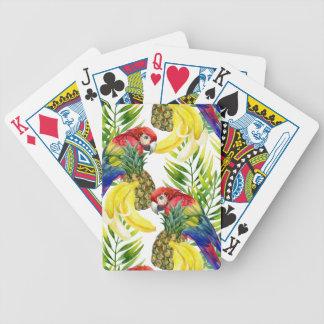 Parrots And Tropical Fruit Poker Deck
