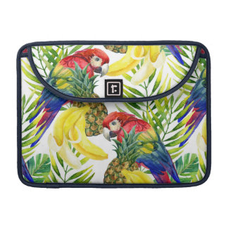 Parrots And Tropical Fruit Sleeves For MacBook Pro