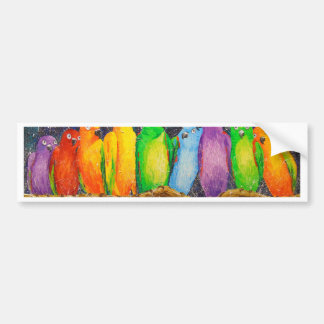 Parrots Bumper Sticker
