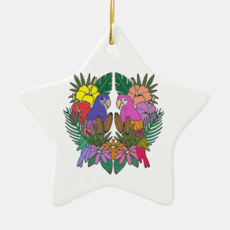 Parrots Ceramic Ornament