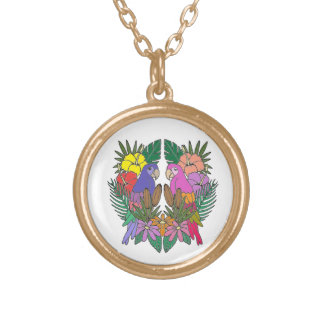 Parrots Gold Plated Necklace