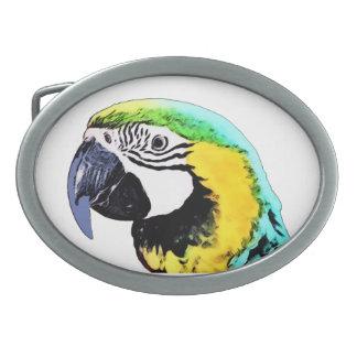 Parrot's Head Oval Belt Buckles