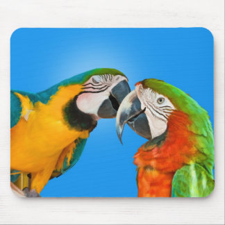 Parrots in Love Mousepad