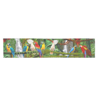 PARROTS IN PARADISE SHORT TABLE RUNNER