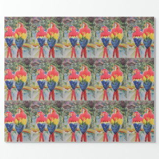Parrots in the Rain Forest Wrapping Paper