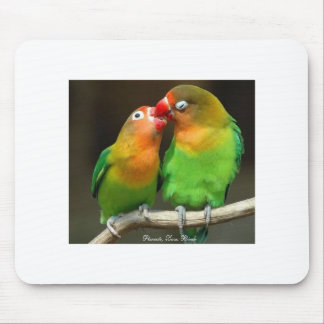Parrots, Love Birds - Mousepad