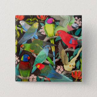 Parrots of the World II 15 Cm Square Badge