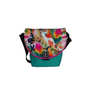Parrots & Palm Leaves Messenger Bags