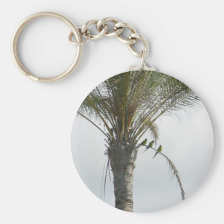 Parrots Palm Tree Keychain