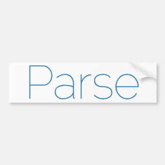 Parse Bumper Sticker