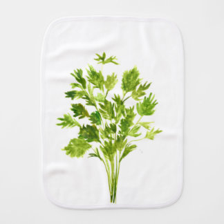 Parsley herbs Parsley print Burp Cloth