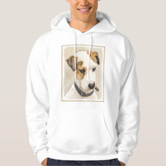 Parson Jack Russell Terrier Painting 2 Dog Art Hoodie