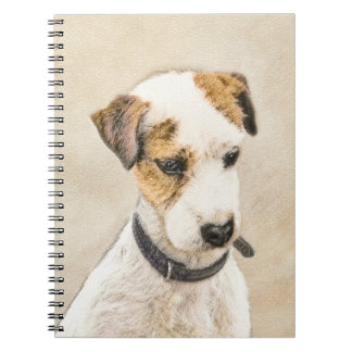 Parson Jack Russell Terrier Painting 2 Dog Art Notebook