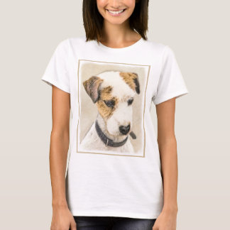 Parson Jack Russell Terrier Painting 2 Dog Art T-Shirt