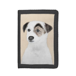 Parson Jack Russell Terrier Painting - Dog Art Tri-fold Wallet