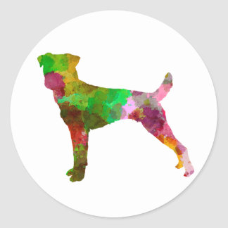 Parson Russel Terrier in watercolor Classic Round Sticker