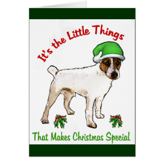 Parson Russell Terrier Christmas Gifts Card