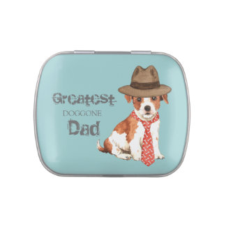 Parson Russell Terrier Dad Jelly Belly Candy Tins