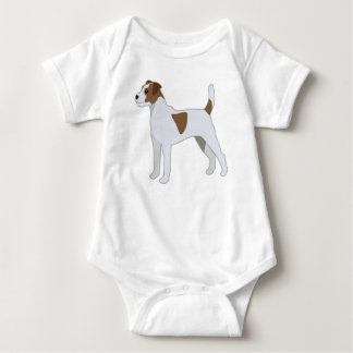 Parson Russell Terrier  Dog Breed Illustration Baby Bodysuit