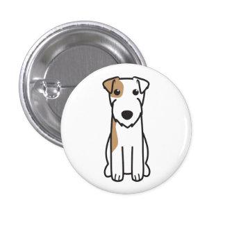 Parson Russell Terrier Dog Cartoon Pinback Button