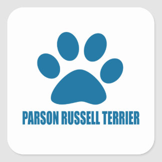 PARSON RUSSELL TERRIER DOG DESIGNS SQUARE STICKER