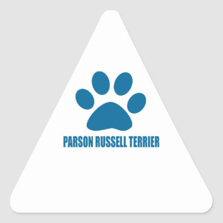 PARSON RUSSELL TERRIER DOG DESIGNS TRIANGLE STICKER