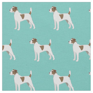 Parson Russell Terrier Silhouette Tiled - Basic Fabric