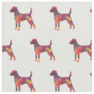 Parson Russell Terrier Silhouette Tiled - Multi Fabric