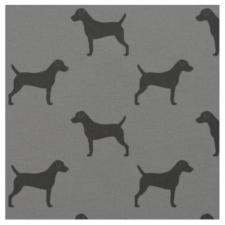 Parson Russell Terrier Silhouettes Pattern Fabric