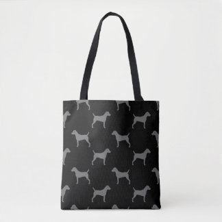 Parson Russell Terrier Silhouettes Pattern Tote Bag