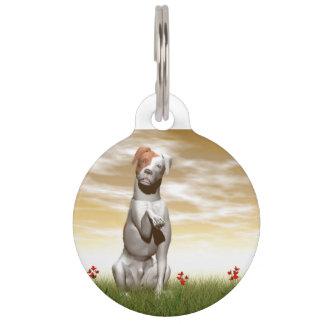Parsons dog pet name tag