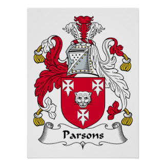 Parsons Family Crest Poster
