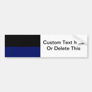 Part black part dark blue do it yourself DIY Bumper Stickers