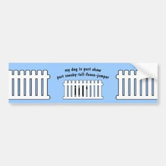 Part Chow Part Fence-Jumper Bumper Sticker