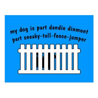 Part Dandie Dinmont Part Fence-Jumper Post Cards