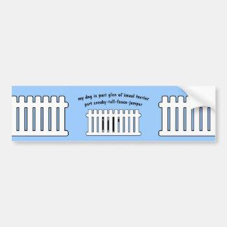 Part Glen of Imaal Terrier Part Fence-Jumper Bumper Stickers