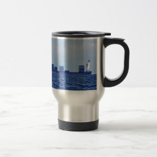 Part Loaded Container Ship Stainless Steel Travel Mug
