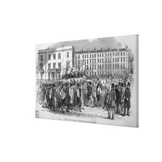 Part of the Chartist Procession Stretched Canvas Print