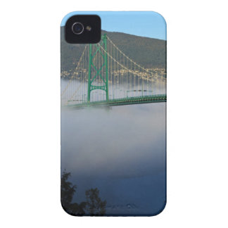 Part of the Lion's Gate Bridge with fog rolling 2 iPhone 4 Covers