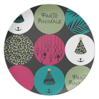 ParTé Animals Circles Melamine Plate