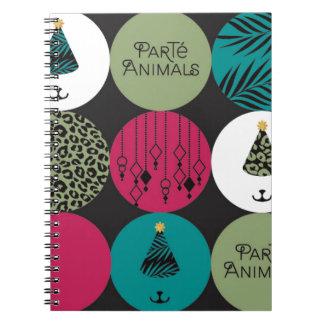 ParTé Animals Circles Spiral Notebook