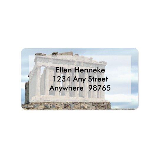 Parthenon 1 address label